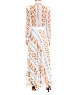 LONG DRESS WITH LOGO PATTERN 92XPT939