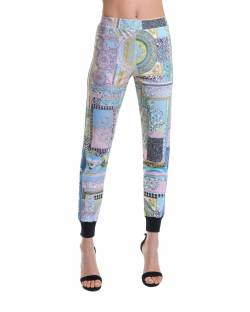 PATTERNED TROUSERS WITH SIDE CONTRAST BANDS 11BPT704