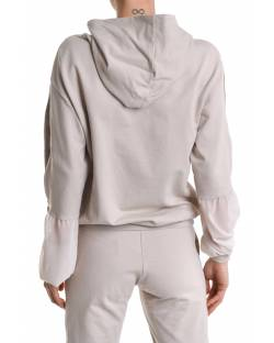 SWEATSHIRT WITH EMBROIDERED LOGO AND OPENING SLEEVES BY ZIP 11BPT705
