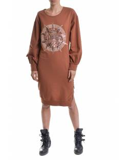 DRESS WITH EMBROIDERED LOGO AND DIVISIBLE ZIPPER ON THE SIDES 11BPT710