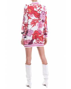 PRINTED DRESS WITH CONTRASTING PATCH 11GPT102