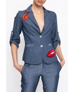 CHAMBRAY JACKET WITH APPLICATIONS 11XPT946