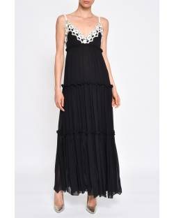 LONG DRESS WITH ROUCHES 11RPT641